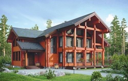 Проект деревянного дома 12-44