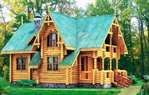 Проект деревянного дома 10-06