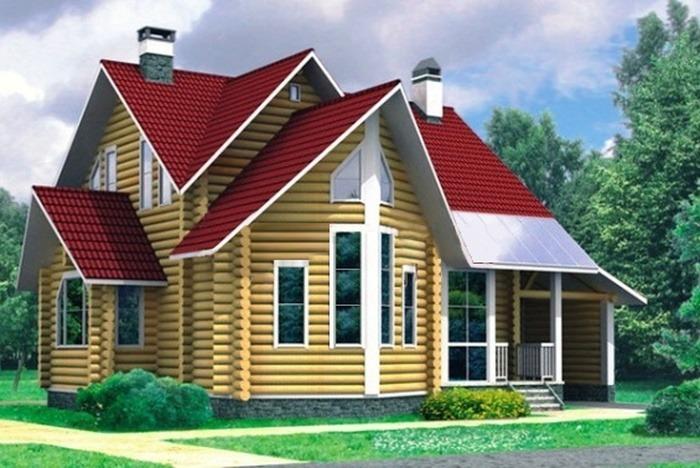 Проект деревянного дома 10-25