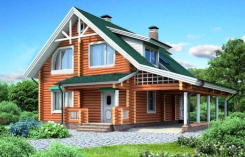 Проект деревянного дома 11-90