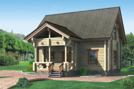 Проект деревянного дома 10-44