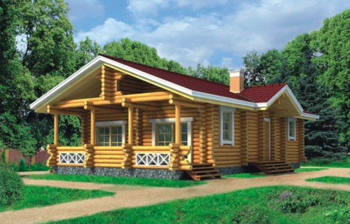 Проект деревянного дома 10-45