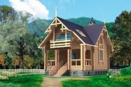 Проект деревянного дома 10-38