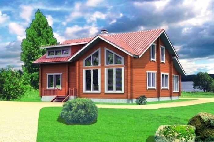 Проект деревянного дома 10-23