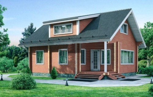 Проект деревянного дома 11-95