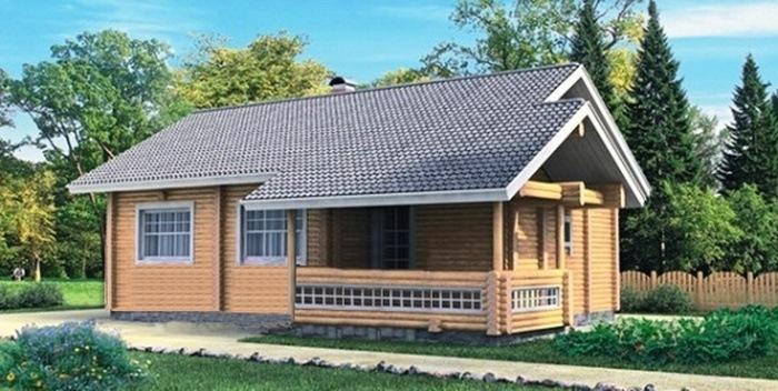Проект деревянного дома 10-88