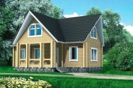 Проект деревянного дома 10-22