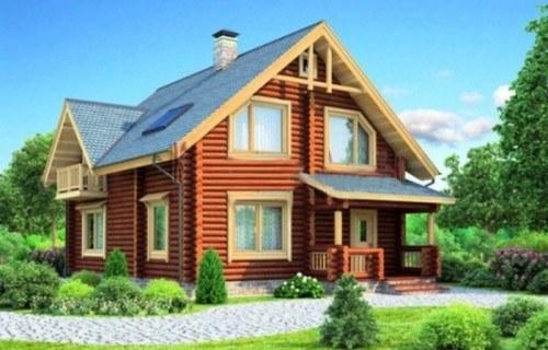 Проект деревянного дома 11-87