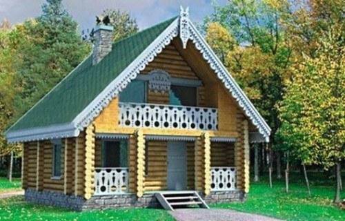 Проект деревянной бани 10-65