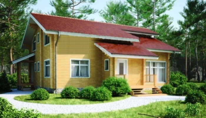 Проект деревянного дома 11-77