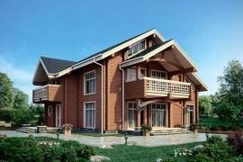 Проект деревянного дома 12-61