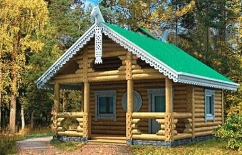 Проект деревянной бани 10-60