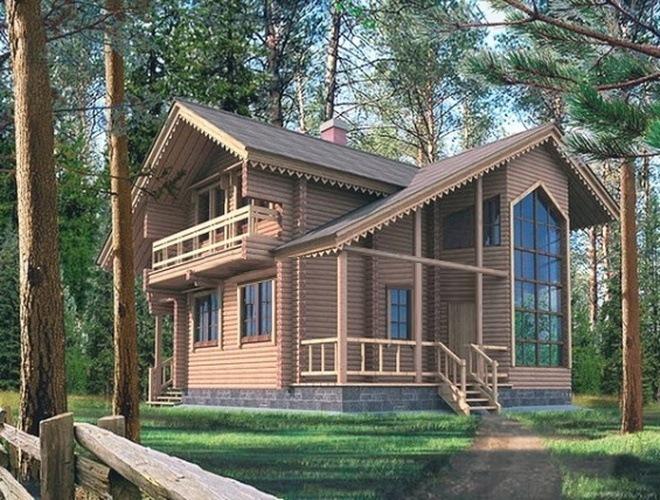 Проект деревянного дома 10-33