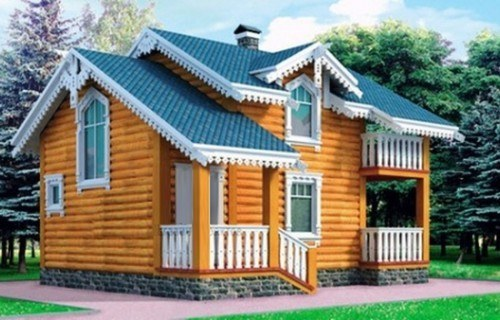 Проект деревянного дома 10-15
