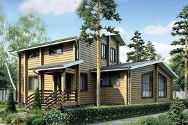 Проект деревянного дома 12-49