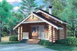 Проект деревянной бани 10-84