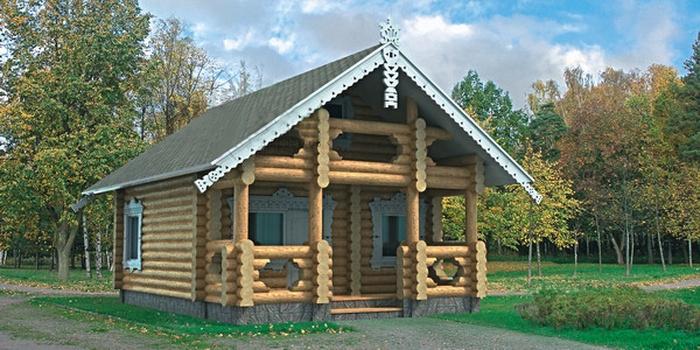 Проект деревянной бани 10-61