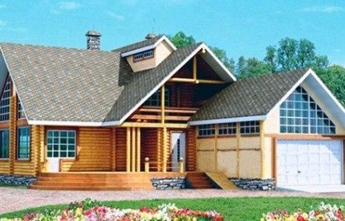 Проект деревянного дома 10-10