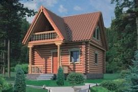 Проект деревянной бани 10-68