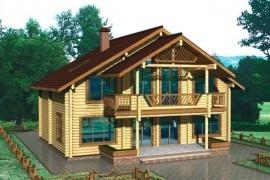Проект деревянного дома 10-99