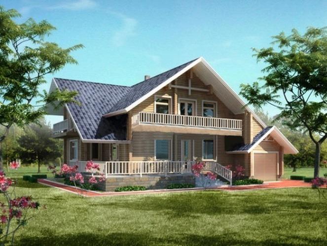 Проект деревянного дома 10-97