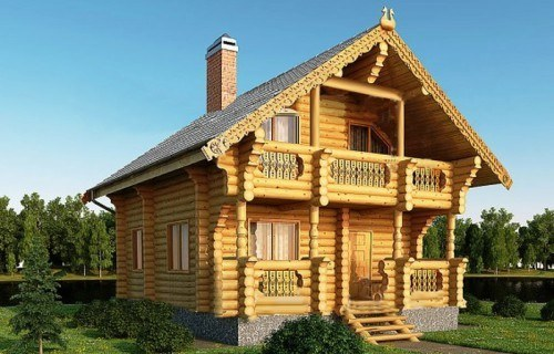 Проект деревянного дома 09-04