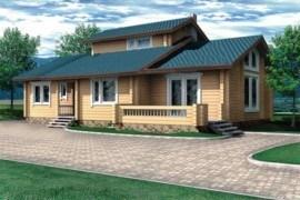 Проект деревянного дома 10-48