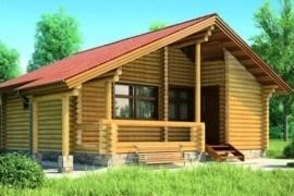 Проект деревянной бани 11-82