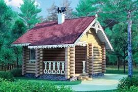 Проект деревянной бани 10-83