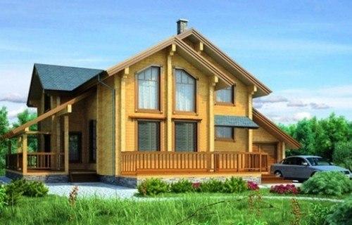 Проект деревянного дома 11-83
