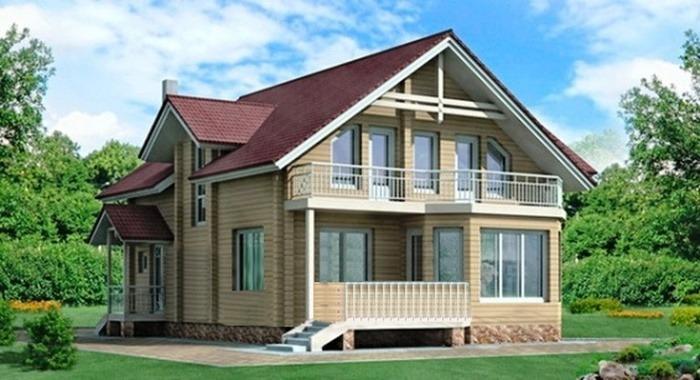 Проект деревянного дома 10-70