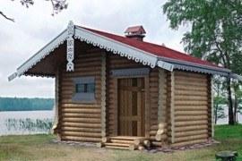 Проект деревянной бани 10-62