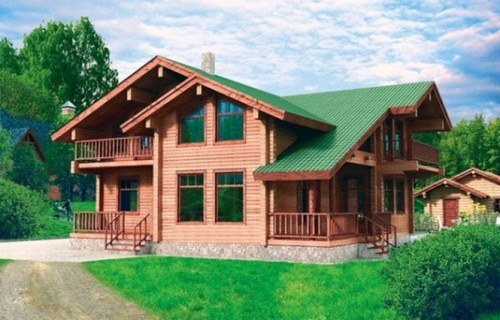 Проект деревянного дома 10-54