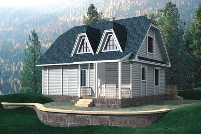 Проект деревянного дома 10-24