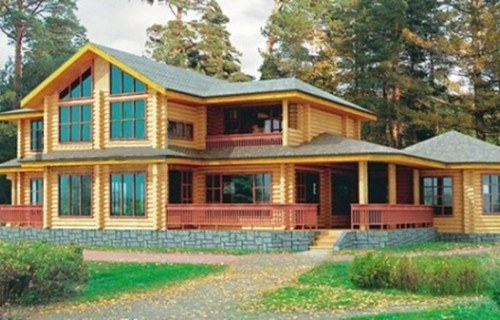 Проект деревянного дома 10-08