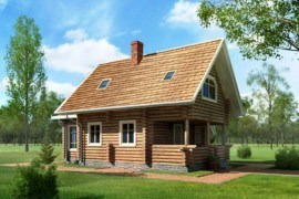 Проект деревянного дома 11-34