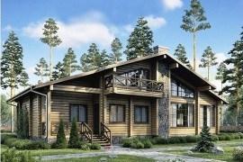 Проект деревянного дома 12-51
