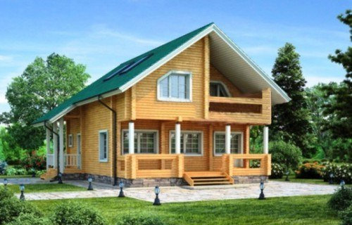 Проект деревянного дома 11-86