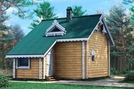 Проект деревянной бани 10-79