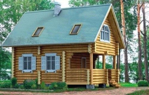 Проект деревянного дома 10-77