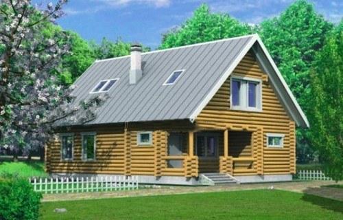 Проект деревянного дома 10-18