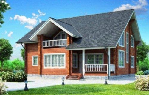 Проект деревянного дома 11-85