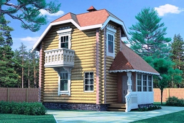 Проект деревянного дома 10-85