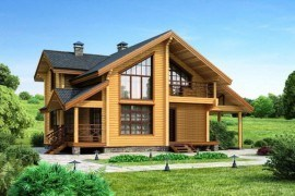 Проект деревянного дома 11-89