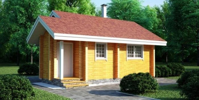 Проект деревянной бани 11-68