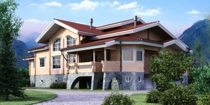 Проект деревянного дома 11-04