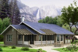 Проект деревянного дома 11-58