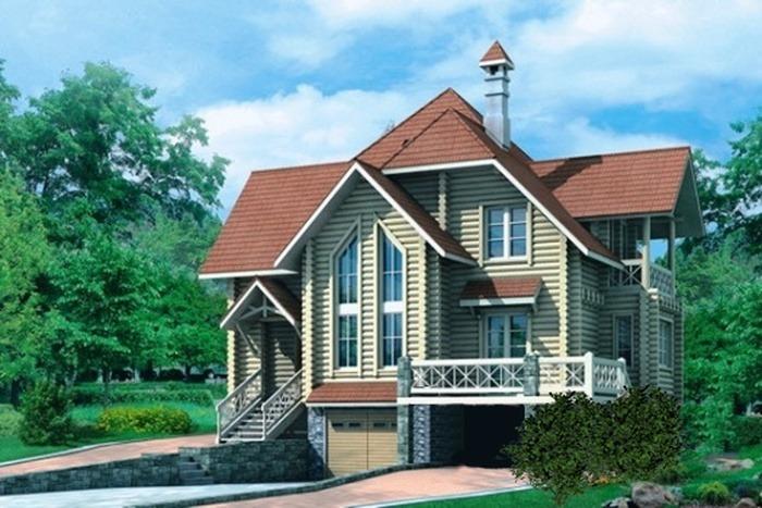 Проект деревянного дома 10-49