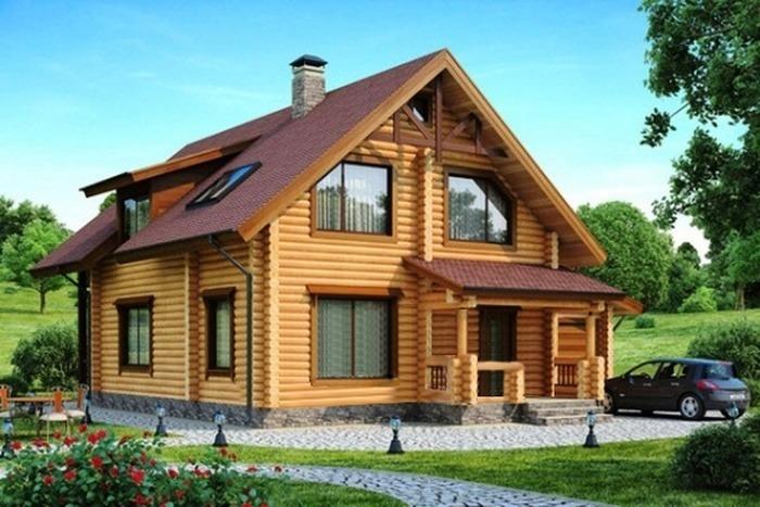 Проект деревянного дома 11-88
