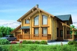 Проект деревянного дома 11-84